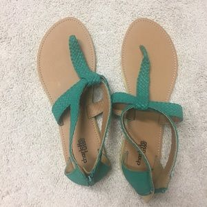 Size 9 green Charlotte Russe sandals